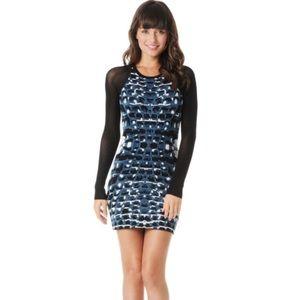 Parker Jacquard Bodycom Mini Long Sleeve Dress XS